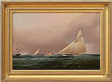 JAMES BUTTERSWORTH (1871-1894): NEW YORK YACHT CLUB RACE OFF SANDY HOOK