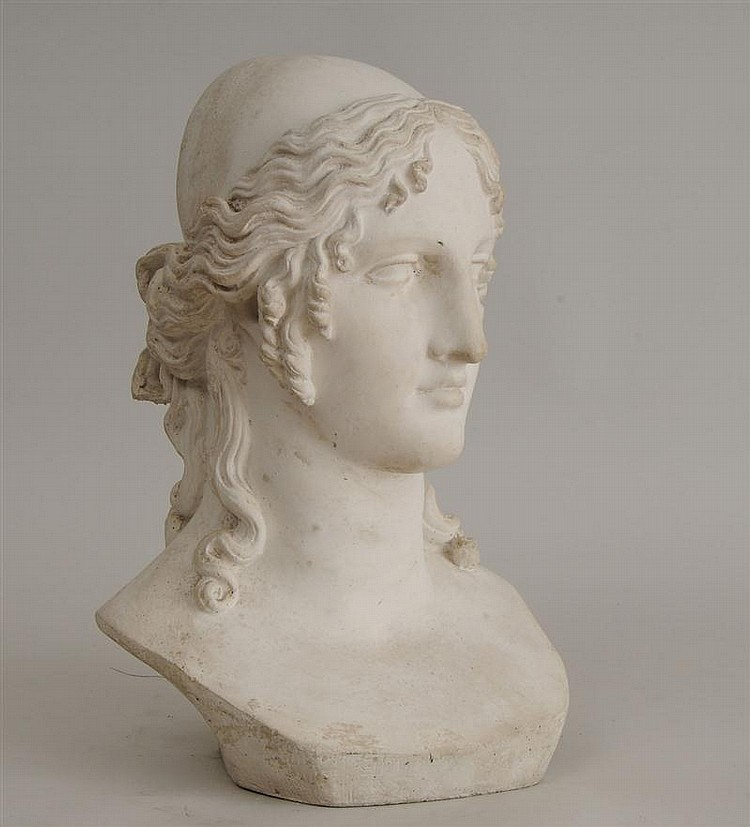 Cast-Stone Bust of a Goddess, After Canova