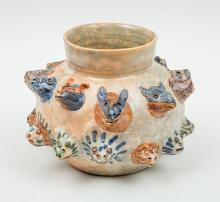 MEXICAN PAINTED POTTERY VESSEL