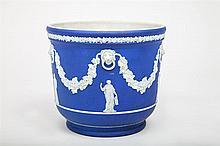 Wedgwood Blue Jasperware Pottery Wine Cooler