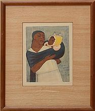 JEAN CHARLOT (1898-1979): MOTHER AND CHILD