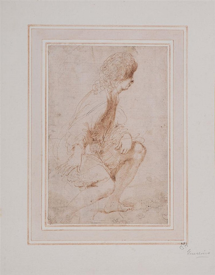 ATTRIBUTED TO GUERCINO: SEATED BOY