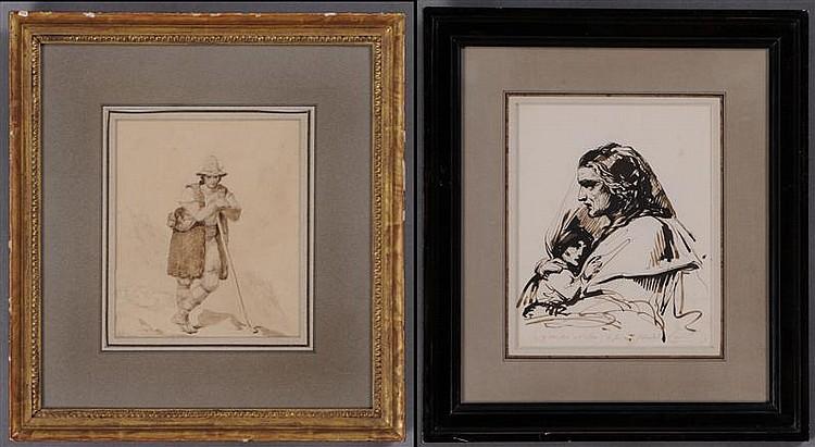 LEON COGNIET (1794-1880): ITALIAN SHEPHERD