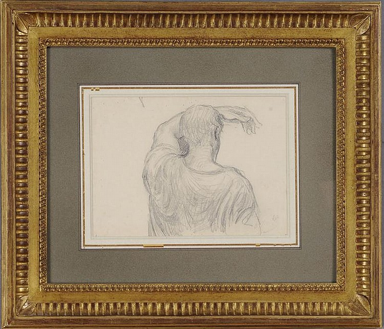 PAUL BOREL (1828-1913): HALF-LENGTH STUDY OF A MAN, SEEN FROM BEHIND
