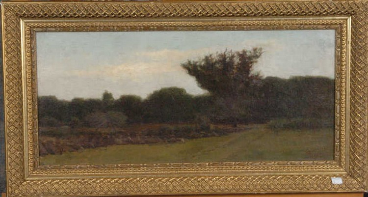 SARTAIN, WILLIAM (1843-1924) OIL ON CANVAS-