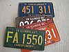5 pc. Vintage Illinois Licence Plates