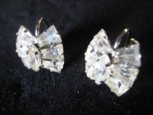 Rhinestone Screw Clip Earrings