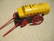 Shell Oil Die Cast Horse Drawn Wagon Bank