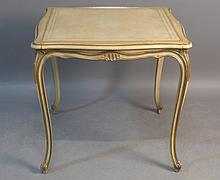 Louis XV Style Leather Top Game Table