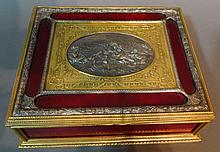 Antique Dore and Silver over Bronze Box
