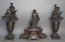 Antique Garniture Clock Set