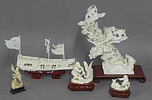 Carved Ivory Sculptures