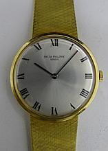 Patek Philippe Mens Yellow Gold Wrist Watch