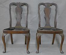 Pair of 19th Century Queen Ann Style Chairs