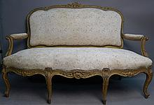 Large Louis XV Style Settee