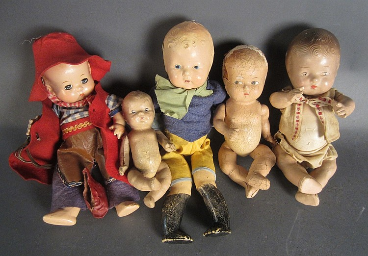 Collection of Antique Dolls