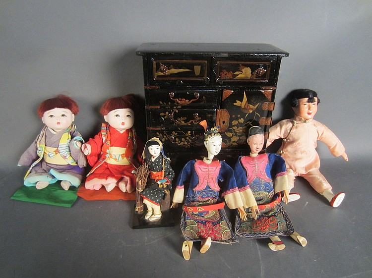 Collection of Dolls and Furniture