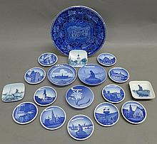 Assorted Royal Copenhagen Blue and White Plates