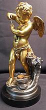 19th Century Dore over Bronze Figural Sculpture