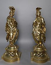 Pair Figural Sculptures, 19th C
