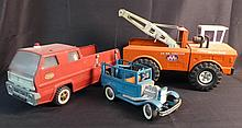 3 Large Vintage Toy Trucks