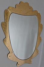 Fontana Art Deco Etched Glass Mirror