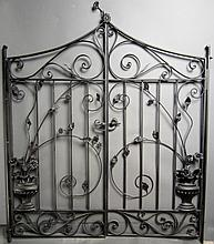 Hand Wrought Iron Gates, American circa 1900