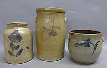 3 American Stoneware Crocks