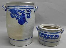 2 American Stoneware Crocks