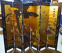Chinese Floor Screen, 6 Panels