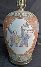 Antique Chinese Porcelain Urn as Lamp