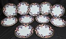 Hand Painted Porcelain Dinner Plates