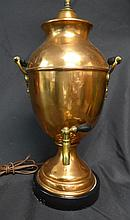 Victorian Copper Samovar as Lamp