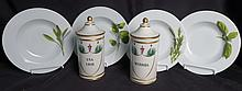 Pair Antique Porcelain Pharmacy Vessels and More