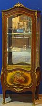 Antique French Curved Glass Vitrine