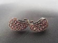 14kt & Pink Sapphire Earrings