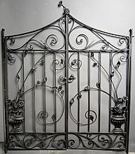 Hand Wrought Iron Gates, American circa 1900