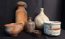 Grouping of Japanese Art Pottery Vessels