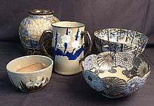 Collection of Modern Asian Art Pottery