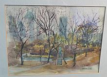 Signed Water Color Landscape