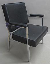 Modern Black and Chrome Arm Chair