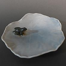 Royal Copenhagen Frog on Water Lily Pad