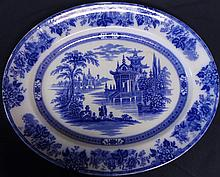 Royal Doulton Madras Blue and White Platter