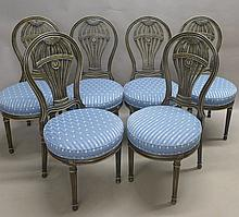 Set of Balloon Form Dining Chairs
