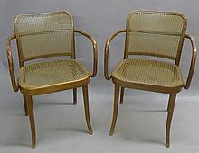 Pair Ligna (Czechoslovakia) Bentwood Chairs