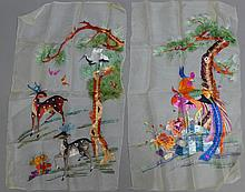 Asian Embroidery Panels
