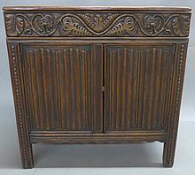 Linen Fold Oak Cabinet