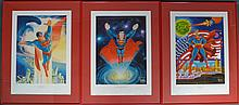 Set of 3 Limited Edition Superman Lithographs