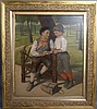 Figural Painting Signed J. Brown