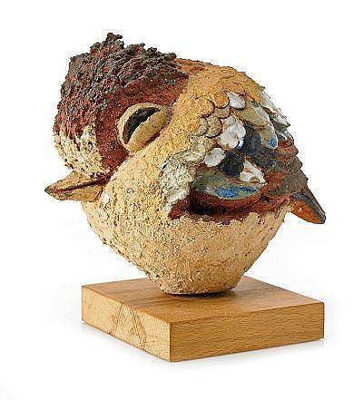 TYRA LUNDGREN, skulptur, fågel, 1973, stengods,